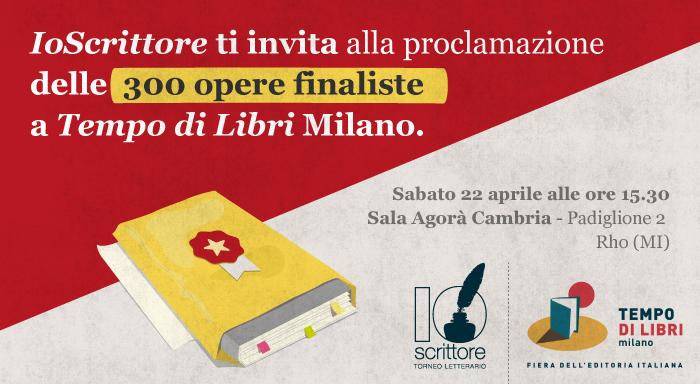 Proclamazione dei 300 finalisti del Torneo Letterario IoScrittore 2017